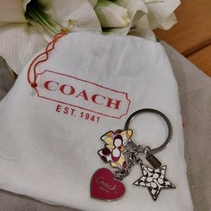 Coach Signature Butterfly Heart Star Multi Charm